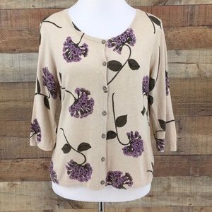 """J. Jill """"Delight in the Details"""" floral cardigan"""